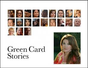 مري آپيك در شب چهره هاي جهاني بروي جلد كتاب قصه هاي گرين كارت