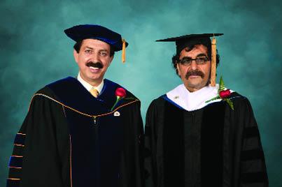 1306-اهداي دكتراي افتخاري سال 2012 به استاد شهرام ناظري