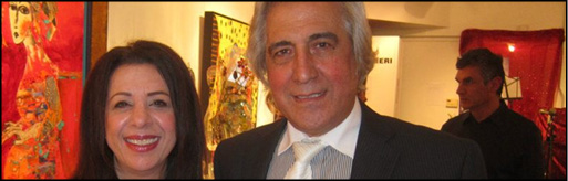 حسن خیاط باشی و فیروزه خطیبی در روخوانی نمایش حکومت زمان خان