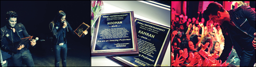 KAMRAN & HOOMAN RECEIVE PLAQUE OF RECOGNITION