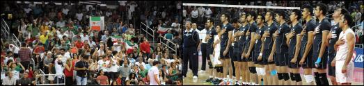 مسابقه دیدنی و پرهیجان والیبال ایران و آمریکا در لس انجلس بروایت تصاویر