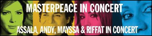 اندی درکنسرت صلح جهانی می خواند
