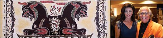 اثر میهن پرستانه وهنری استاد زیبانگارعلی بزرگمهر در نخستین جشن پائیزی پارس