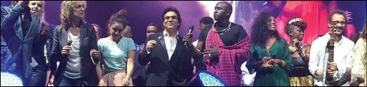 اندی در کنسرت جهانی صلح افتخار آفرید