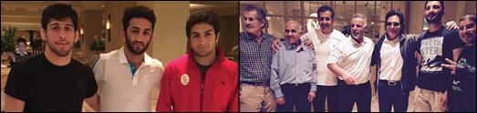 قهرمانان کشتی ایران برای چهارمین بار جام طلائی قهرمانی را دریافت داشتند