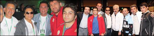 دیدار اندی با قهرمانان کشتی ایران