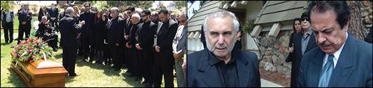 مراسم خاکسپاری و یادبود محسن مرزبان با احترام ویژه برگزار شد