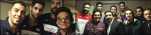 اندی در حمایت از تیم ملی والیبال ایران