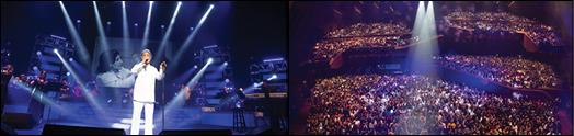 تنها دو تصویر برای نمایش شکوه، هیجان و زیبایی کنسرت بزرگ داریوش