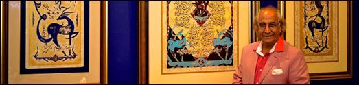 استاد زیبا نگار علی بزرگمهر، هنرمندی با کوله بار عشق و سفر به سرزمین های دور و نزدیک