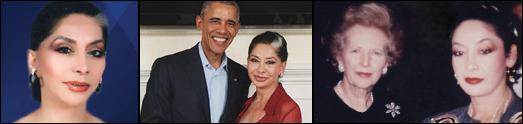 لیدی جمیل خرازی در مسیر خدمات انسانی، در کنار سران، رهبران و چهره های نامدار جهانی حرکت می کند
