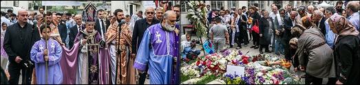 مراسم سالگرد نسل کشی ارامنه در تهران به روایت تصاویر