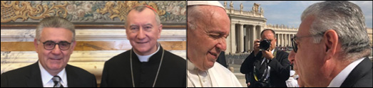 Arsen Danielian had an audience with His Holiness Pope Francis