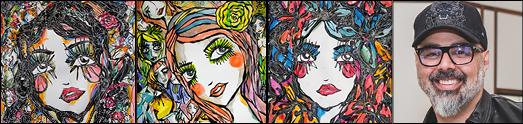 علی ثابت یک هنرمند نقاش با دیدگاه های انساندوستانه