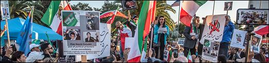 گردهمایی و تظاهرات ایرانیان لس آنجلس در برابر ساختمان فدرال